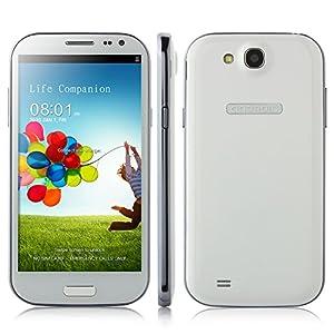 5.0 pouces 3G Smartphone débloqué HD écran (1280*720 pixels) Google Android 4.2 MTK6582 Dual SIM OTG - Blanc