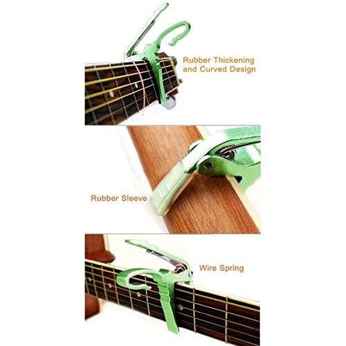 RoseBlue byRisa Electric or Acoustic Guitar Capo Quick Change Trigger Key Clamp (Fender Jazz Bass Accesories compare prices)