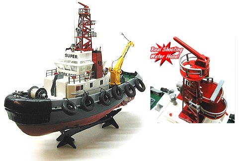 RTR Seaport Tug Boat Remote Control RC Work Boat 1/10th Scale (Color May Vary)