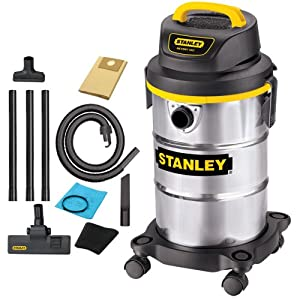 Stanley SL18130 5-Gallon 4.5 Peak Portable Stainless Steel Series Horsepower Wet/Dry Vacuum Cleaner
