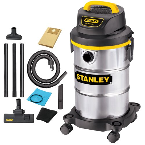 Stanley SL18130 5-Gallon 4.5 Peak Portable Stainless Steel Series Horsepower Wet/Dry Vacuum Cleaner onSale