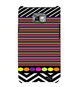 PrintVisa Chevron & Stripes Pattern 3D Hard Polycarbonate Designer Back Case Cover for Samsung Galaxy S2