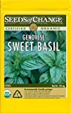 Seeds of Change S10690 Certified Organic Genovese Sweet Basil, 175 Count