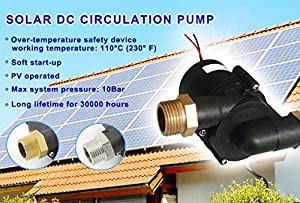 2.2GPM - 12VDC Wort Pump - Can handle temperatures up to 230F and Pressures up to 145PSI - With three-phase ECM brushless DC motor. FDA, REACH,CE, RoHS, ISO9001 certificated (Color: black, Tamaño: 2.2 GPM)