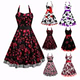 Black Butterfly Floral 50S 60S Rockabilly Vtg Swing Prom Dress