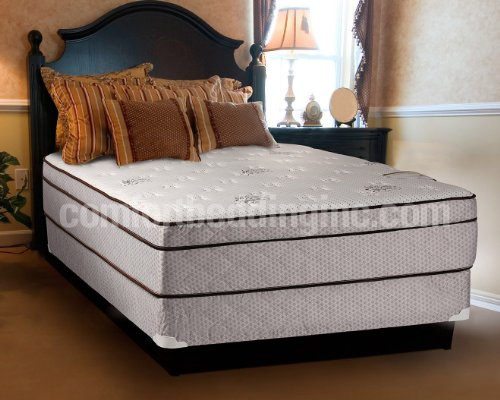 Find Bargain Dreamy Rest Pillow Top (Euro Top) King Size Mattress and Box Spring Set