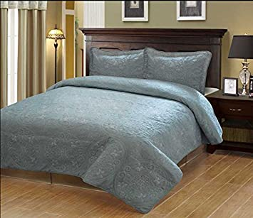 Amazon.com - Fancy Collection 3pc Bedspread Bed Cover Embroidery ...