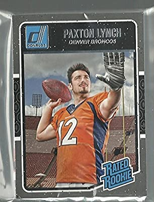 2016 Panini Donruss Football Denver Broncos Team Set 12 Cards W/Rated Rookies Paxton Lynch
