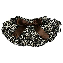 (6-24 Months, Leopard) juDanzy Satin Diaper Covers bloomers in a Variety of colors and sizes