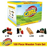 Brybelly Tcon 201 Conductor Carl 100 Piece Wooden Train Set