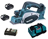 MAKITA 18V LXT BKP180 BKP180Z BKP180RFE PLANER, 2 x BL1830 BATTERIES, DC18RC CHARGER AND LXT400 BAG - PF TRADE