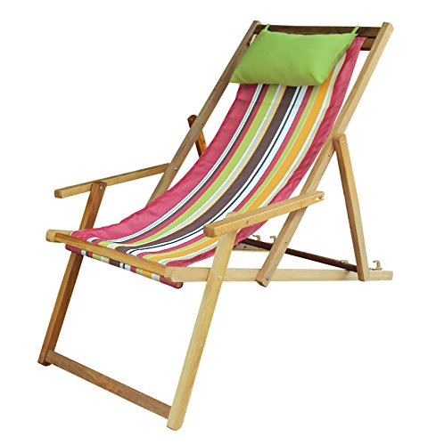 Hangit Easy deck wooden chair furniture for garden living room | Ideal gifts for old women people couple