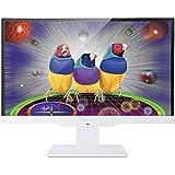ViewSonic VX2363SMHL-W 58,4 cm (23 Zoll) Full HD SuperClear IPS LED-Monitor (HDMI/MHL, VGA, 2ms Reaktionszeit, Lautsprecher) Weiß