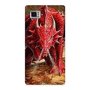 Gorgeous Red Fantastic Dragon Back Case Cover for Vibe Z2 Pro K920
