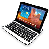 Sharon Samsung Galaxy Tab 10.1 10.1N P7500 P7510 Samsung Galaxy Tab 2 10.1 P5100 Aluminium Case | Cover | Stand with Integrated Bluetooth Keyboard ***NOT COMPATIBLE WITH NOTE 10.1***
