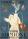 SIRMIONE SPA, LAKE GARDA Italy Travel Poster by G. Riccobaldi 1949 A2 Matte Finish (420 x 594mm)