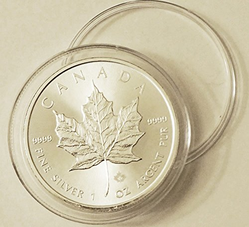 2015 Canadian Silver Maple Leaf in Plastic Container .9999