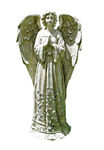 Napco Praying Flower Angel Garden Statue, 16-3/4-Inch Tall