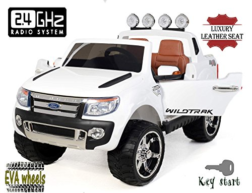 electric-ride-on-toy-car-ford-ranger-wildtrak-luxury-2-x-motor-two-seats-in-leather-soft-eva-wheels-