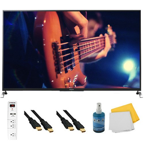 "55"" Smart 3D Led Hdtv Motionflow Xr 480 Plus Hook-Up Bundle - Kdl55W950B. Bundle Includes Tv, 3 Outlet Surge Protector With 2 Usb Ports, 2 -6 Ft High Speed 3D Ready 1080P Hdmi Cable, Performance Tv/Lcd Screen Cleaning Kit, And Cleaning Cloth."