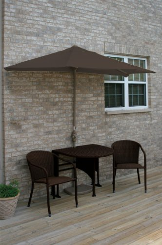 Terrace Mates Genevieve 42 in. 5 Pc Folding Sunbrella Set (Chocolate)
