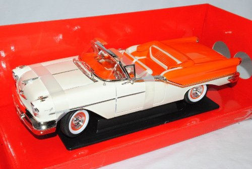 Oldsmobile Super 88 1957 Cabrio Weiss Orange Oldtimer 1/18 Yatming Modell Auto