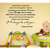 Newsee Decals If ever there is tomorrow when we're not together... - Winnie the Pooh Vinyl wall art Inspirational quotes and saying home decor decal sticker