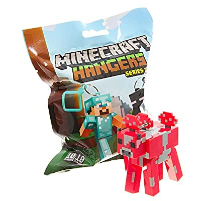 Official Minecraft Exclusive MOOSHROOM Toy Action Figure Hanger from MOJANG