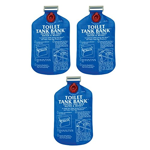 Toilet Tank Bank Water Conserving Tank Insert - 3 Pack