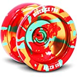 Red Yellow Green Splashes Yo-Yo Professional Aluminum Sidekick Pro YoYo