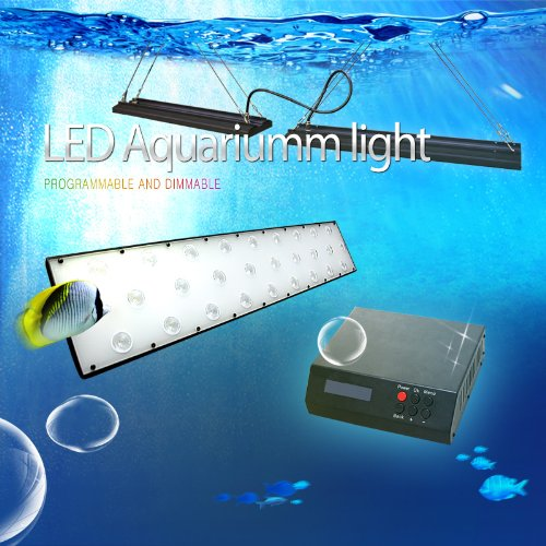 Dsuny® 168W New Programmable Aquarium Led Lighting Dimmer For Marine Fish Tank And Coral Reef, Double 2×50Watt, 48-Inch