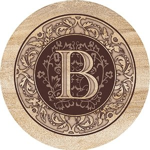 "Thirstystone Monogram B"" Sandstone Coaster Set Of 4"""