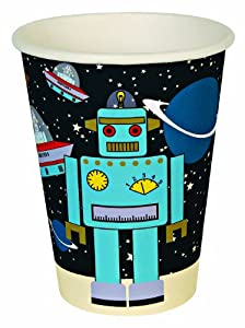 Meri Meri Space Cadets Robot Party Cups, 12-Pack by Meri Meri