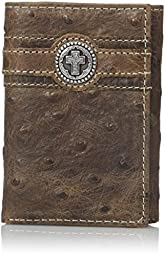 Ariat Men\'s Circle Cross Overlay Tri-Fold, Brown, One Size
