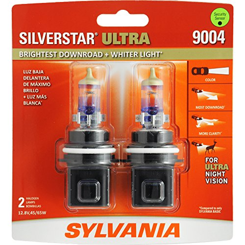 SYLVANIA 9004 SilverStar Ultra High Performance Halogen Headlight Bulb, (Contains 2 Bulbs) (95 Toyota 4runner Headlights compare prices)