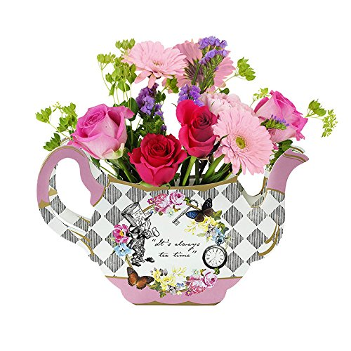 Talking Tables Truly Alice Tea Party Teapot Vase Table Centerpiece Topper, Multicolor (Teapot Table compare prices)