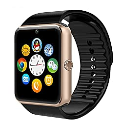 Micomy GT08 Bluetooth 3.0 Smart Watch with Camera And SIM Card Slot -Gold