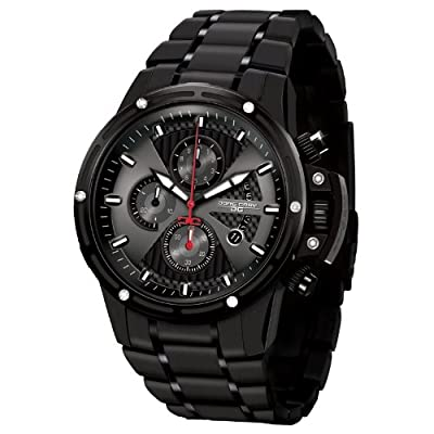 Jorg Gray Men's JG8500-24 Analog Display Quartz Black Watch