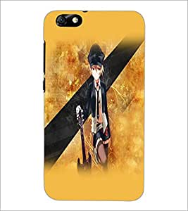 PrintDhaba Guitar Girl D-5525 Back Case Cover for HUAWEI HONOR 4X (Multi-Coloured)