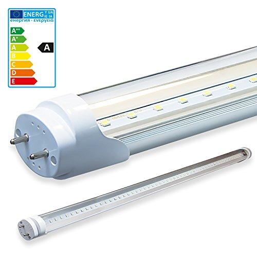 1x SMD LED Röhre / Tube Leuchtstoffröhre T8 G13 transparente Abdeckung - 100 cm, 16W, kaltweiß 6000K, 1600lm- montagefertig