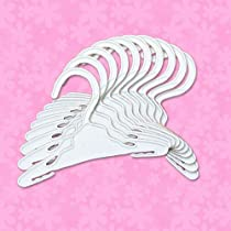 Doll Hangers Set of 10 Plastic Hangers, Fits 18 Inch American Girl Dolls Clothes