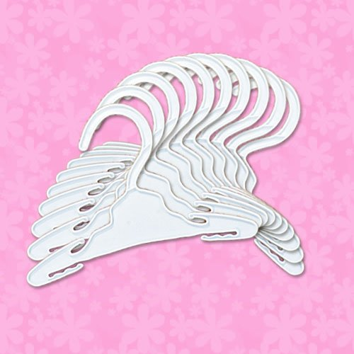 Doll Hangers Set of 10 Plastic Hangers, Fits