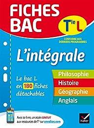 Fiches bac L'intégrale Tle L: le bac L en 180 fiches de révision
