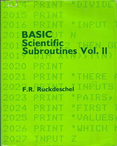 Basic Scientific Subroutines, Volume Ii