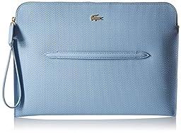 Lacoste Women\'s Chantaco Large Wrislet Clutch Bag, Blue Fog, One Size