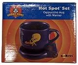 Looney Tunes Tweety Hot Spot Set Cappuccino Mug With Warmer