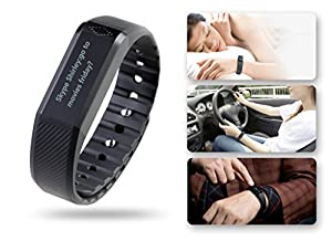 Fitness Tracker Toprime® Touch Screen Smart Wristband Activity Tracker Calling/ Messages/ Sleep Quality Monitor For Andriod and iOS Black
