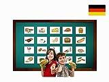 Food and Drinks Flashcards in German - Lebensmittel und Nahrung