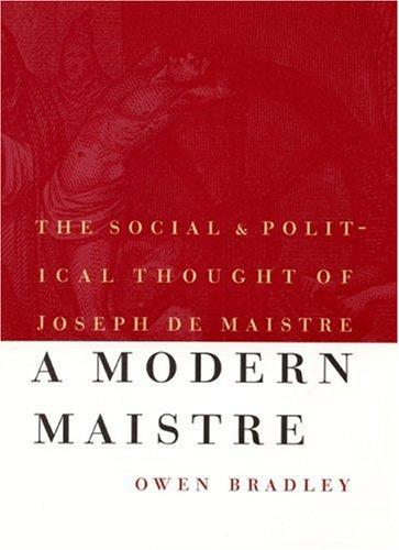 Critical miscellanies vol 2 of 3 essay 4 joseph de maistre