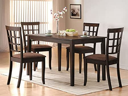 New Cardiff Design Dining Table Set in Expresso Finish ACS 60850 60851